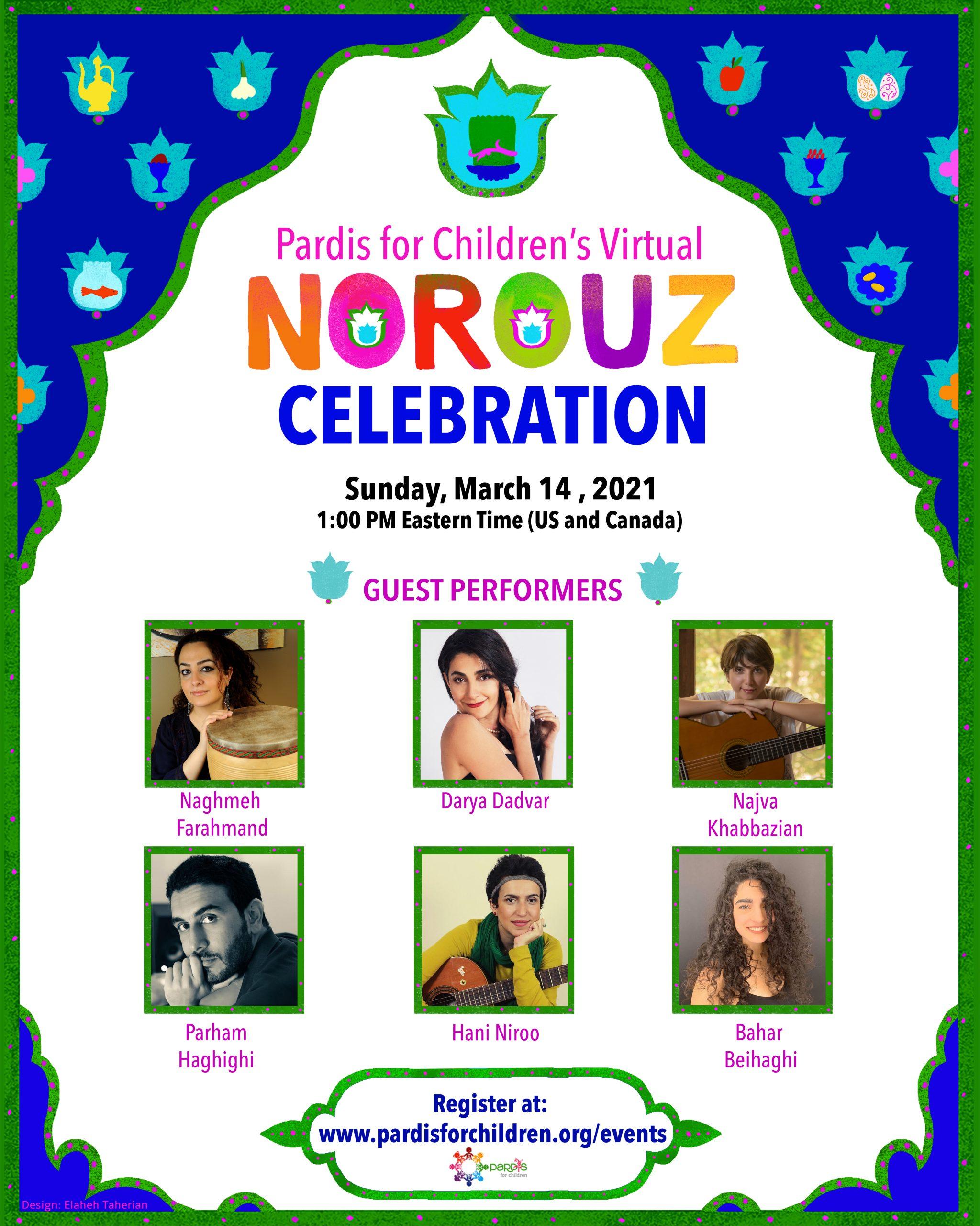 Pardis for Children's Virtual Norouz Celebration